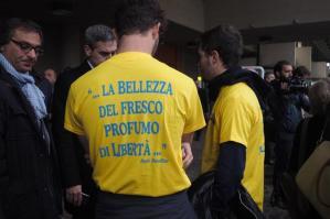 281015 - Inizio udienza processo Aemilia mafia ndrangheta in emilia - foto Nucci/Benvenuti - INIZIO PROCESSO AEMILIA NDRANGHETA - fotografo: BENVENUTI